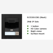 2N® IP Solo with HD Camera Black Surface mount